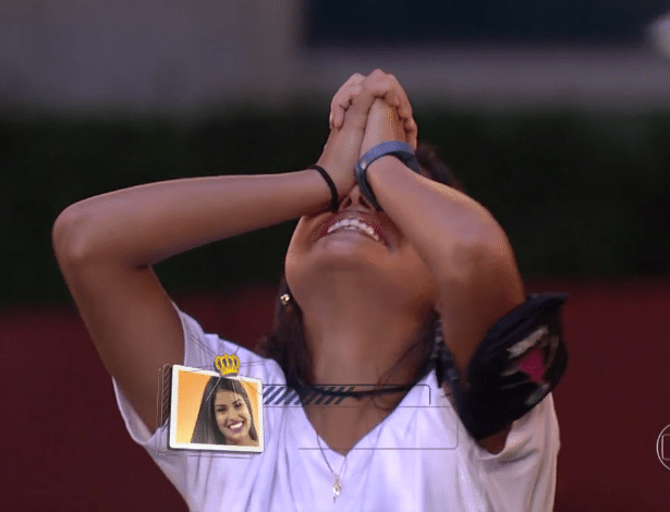 """Pequi vence """"Quiz do Líder"""" e é a quarta participante a conquistar a liderança no """"BBB16"""". A goiana ocupa o posto pela primeira vez - Reprodução/TV Globo"""