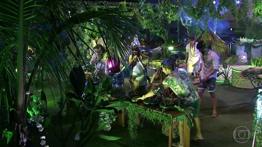 """Começa festa """"Amazônia"""" - Reprodução/Globoplay"""