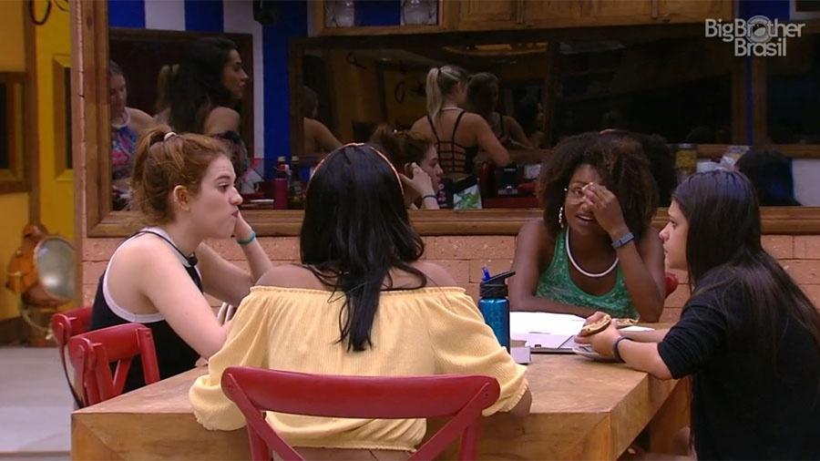 Ana Clara e Ana Paula comem pizza juntas - Reprodução/GloboPlay