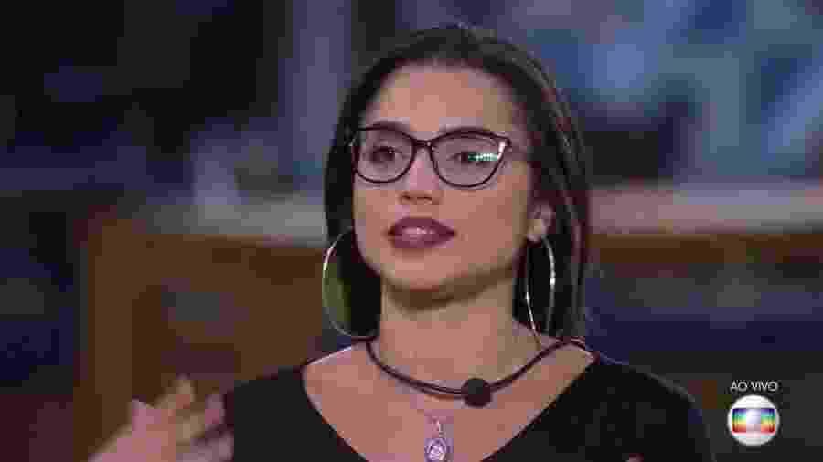 Paula justifica seu voto na família Lima no último paredão - Reprodução/TvGlobo