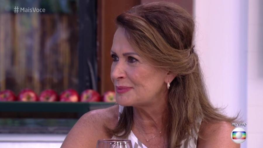 """Ieda toma café com Ana Maria Braga, no """"Mais Você"""" - Reprodução/ TV Globo"""