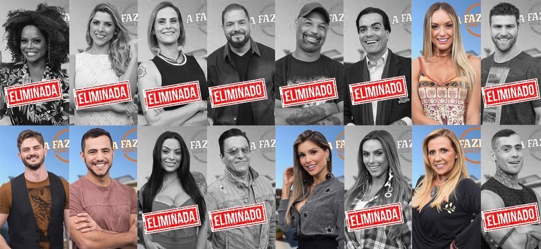 """Participantes que continuam em """"A Fazenda 9"""" após décima primeira roça  - Montagem/Antonio Chahestian/Record TV"""