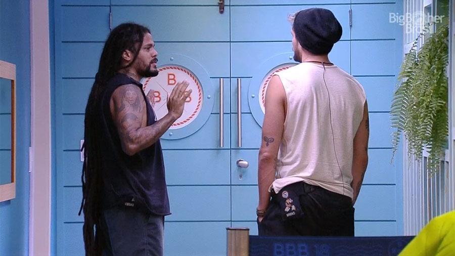 Viegas e Breno conversam durante café da manhã especial - Reprodução/GloboPlay