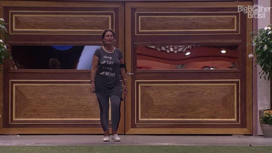 Ieda segue o exemplo de Luiz Felipe e sai da prova do líder - Reprodução/TV Globo