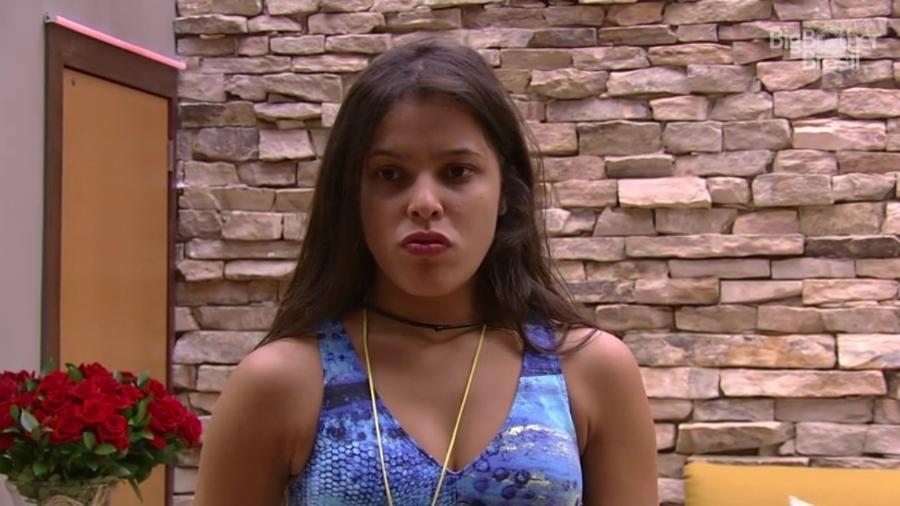 """06.fev.2017 - Emilly, participante do """"BBB17"""" - Reprodução/Tv Globo"""