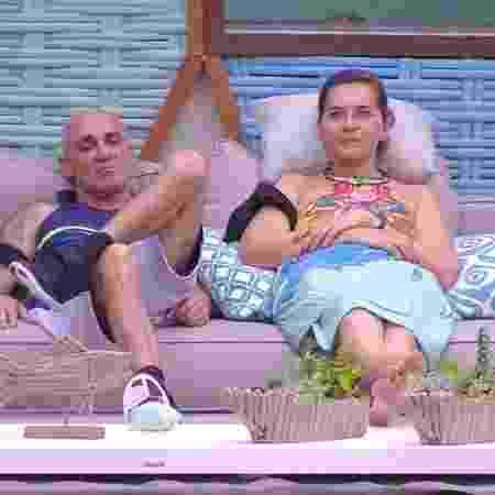 """Ayrton e Eva durante o """"BBB18"""" - Reprodução/Globoplay - Reprodução/Globoplay"""