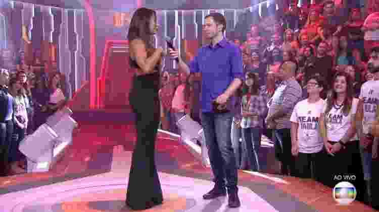 Paula e Leifert - Reprodução/TvGlobo - Reprodução/TvGlobo