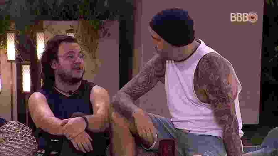 Caruso conversa com Diego sobre paredão - Reprodução/GlobosatPlay