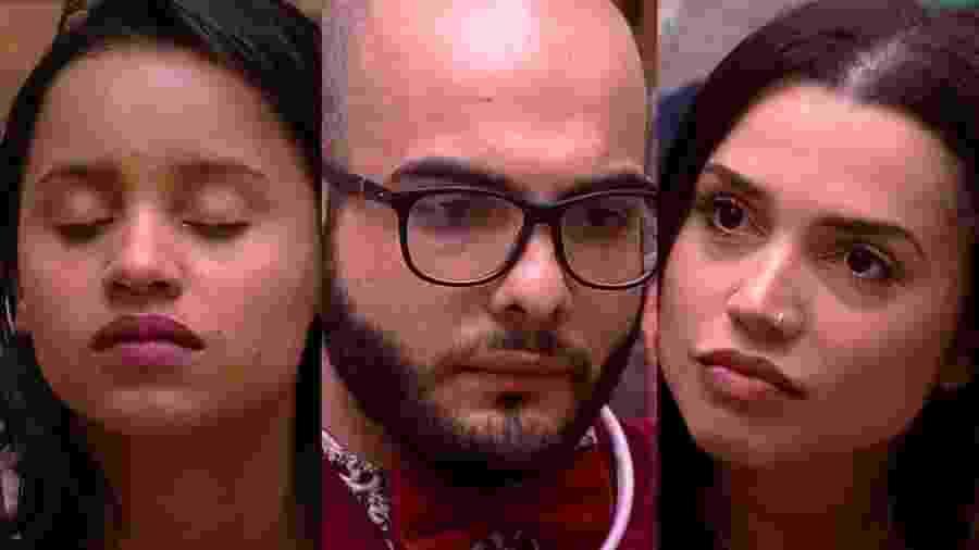 """Gleici, Mahmoud e Paula formam o sexto paredão do """"BBB18"""" - Montagem/RedeGlobo"""