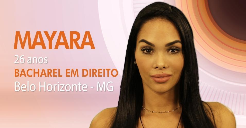 """Mayara Rodrigues, 26 anos, é uma das participantes do """"BBB17"""""""