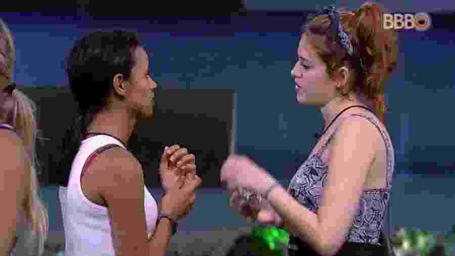 Ana Clara e Gleici falam sobre anjo - Reprodução/Globoplay