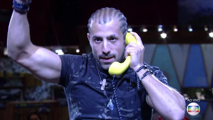 """Kaysar é o último líder do """"BBB18"""" - Reprodução/TvGlobo"""