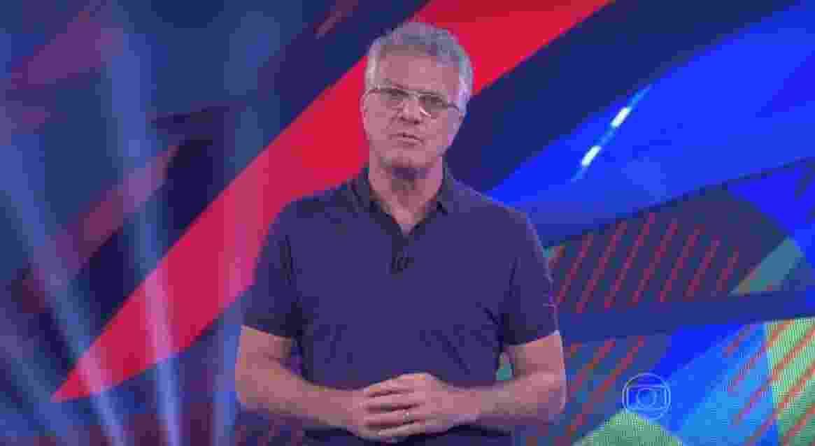 """14.fev.2016 - Pedro Bial apreseta o """"BBB16"""" em dia de formação de paredão - Reprodução/ TV Globo"""
