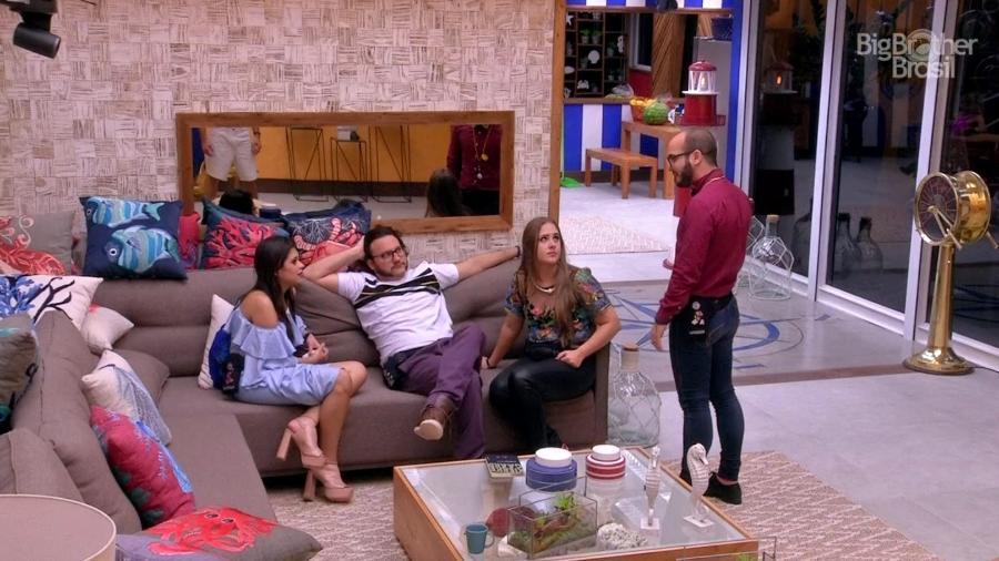 Mahmoud vai pedir desculpas para Ana Paula após resultado do paredão  - Reprodução/TvGlobo