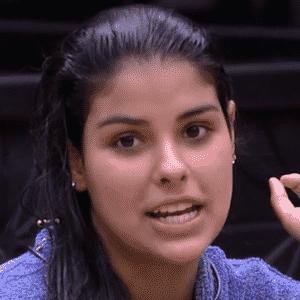 """23.mar.2016 - Munik reclama da mudança do seu corpo durante o confinamento no """"BBB16"""" - Reprodução/TV Globo"""