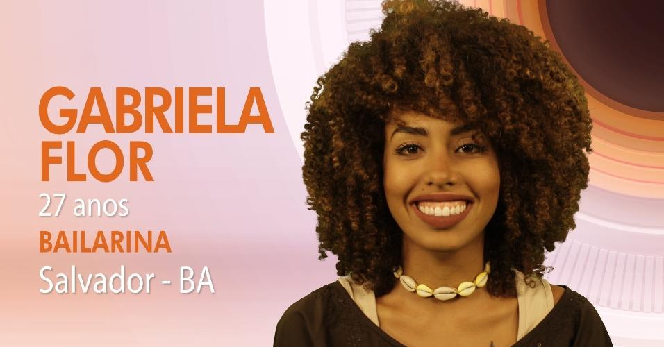 """Gabriela é uma das participantes do """"BBB17"""""""
