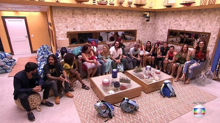 """Os participantes do """"BBB18"""" na noite da chegada - Reprodução/TvGlobo"""