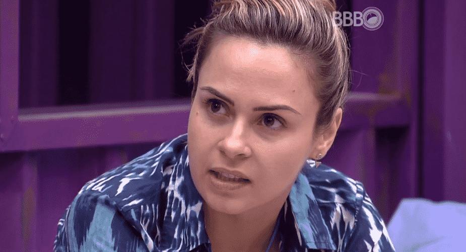 20.fev.2016 - Ana Paula fala sobre votação do próximo domingo (21) - Reprodução/TV Globo