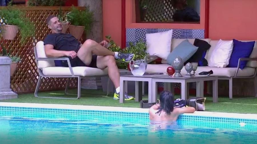 Daniel e Marinalva confabulam sobre próximo paredão - Reprodução/TVGlobo