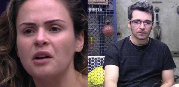 """8.mar.2016 - Ana Paula, que foi expulsa, e Alan, desistente do """"BBB16"""" - Reprodução /TV Globo"""