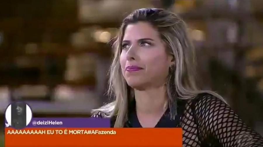 Ana Paula Minerato diz que beijaria o humorista Marcelo Zangrandi - Reprodução/Record