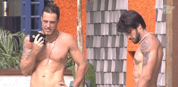 """Daniel foi caracterizado como líder de """"quadrilha"""", e Renan, chamado de """"Bananan"""" - Reprodução/TV Globo"""
