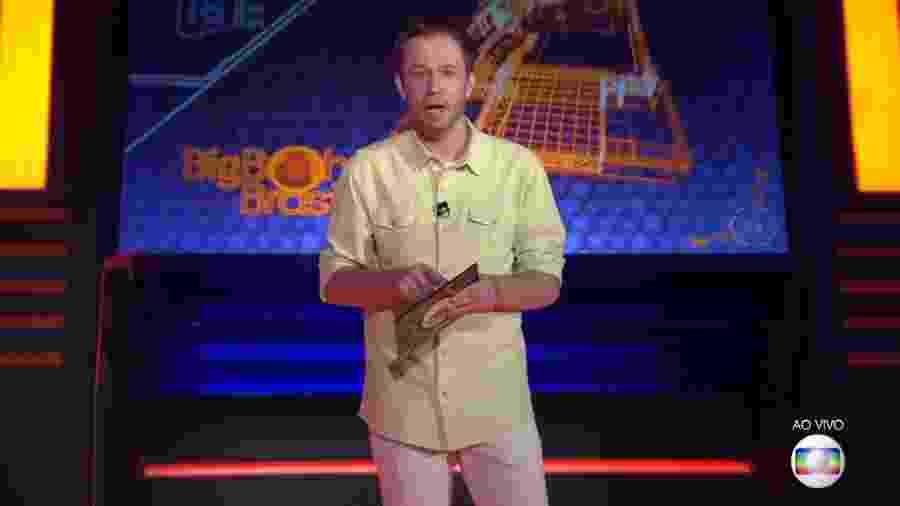 Tiago Leifert anuncia novidades na primeira prova do líder - Reprodução/TV Globo