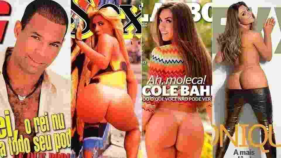 """Capas das revistas eróticas com participantes de """"A Fazenda 9"""" - Montagem/GMagazine/Sexy/Playboy"""