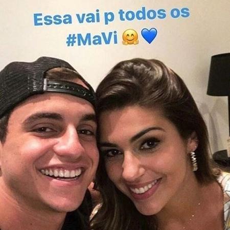 """Vivian e Manoel posam juntos após o """"BBB17"""" - Reprodução / Instagram"""