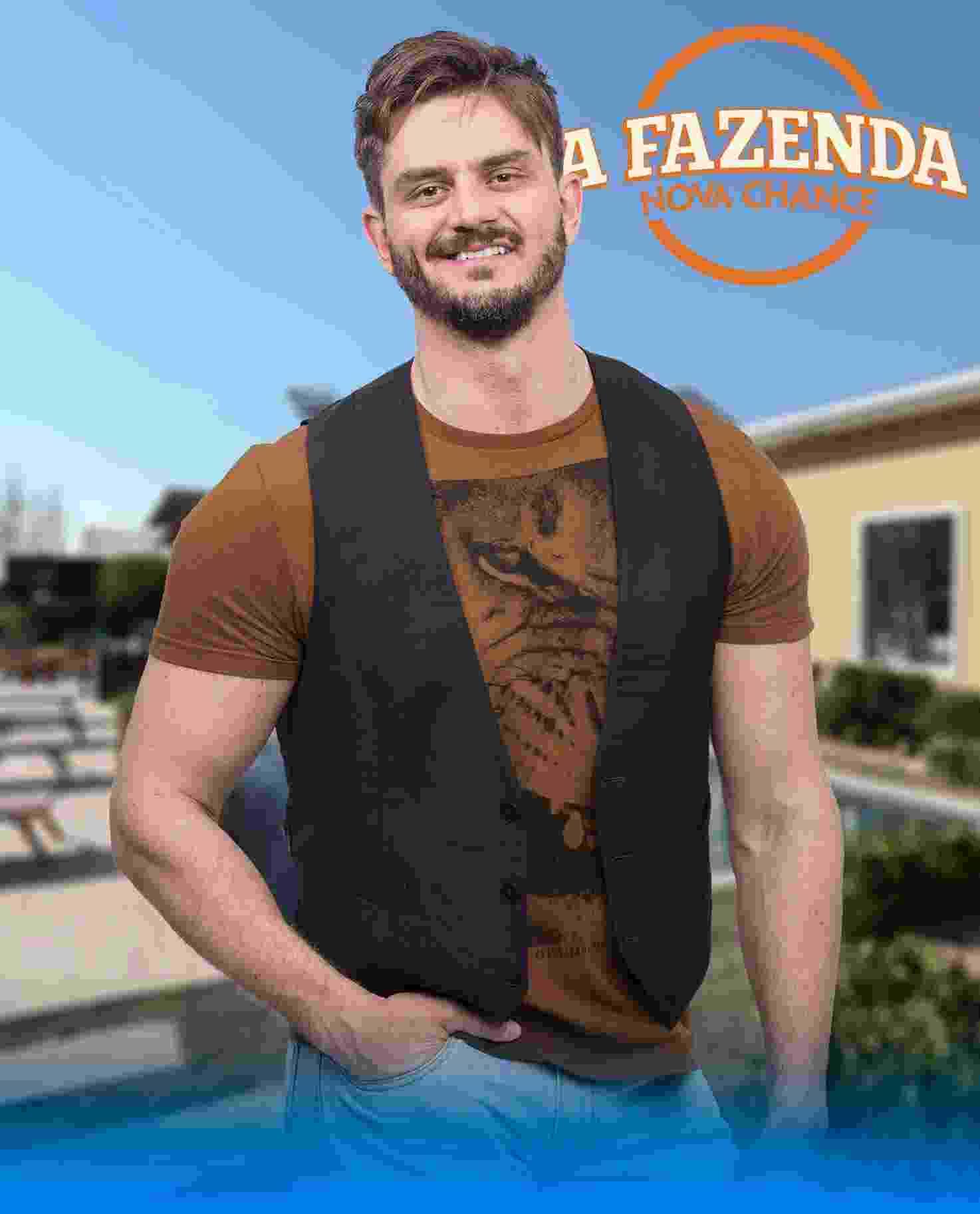"""Marcos Harter, participante de """"A Fazenda 9"""" - Antonio Chahestian/Record TV"""
