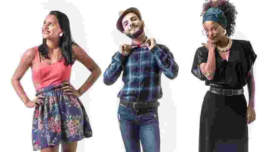 """Gleici, Mahmoud e Nayara formam o quarto paredão do """"BBB18"""" - Montagem/Globo/ Paulo Belote"""