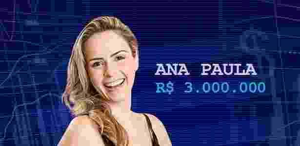 Cotação final ana paula - Divulgação/TV Globo e Arte/UOL - Divulgação/TV Globo e Arte/UOL