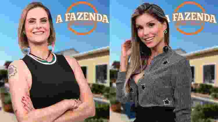 """Aritana e Flávia formam a sétima roça de """"A Fazenda 9"""" - Montagem/Antonio Chahestian/Record TV - Montagem/Antonio Chahestian/Record TV"""