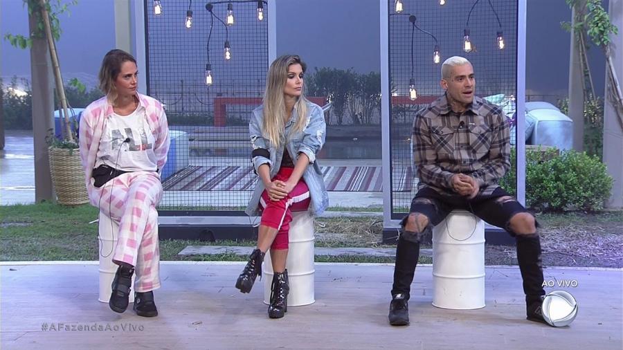 """Aritana, Flávia e Yuri formam a sétima roça de """"A Fazenda 9"""" - Reprodução/Record"""