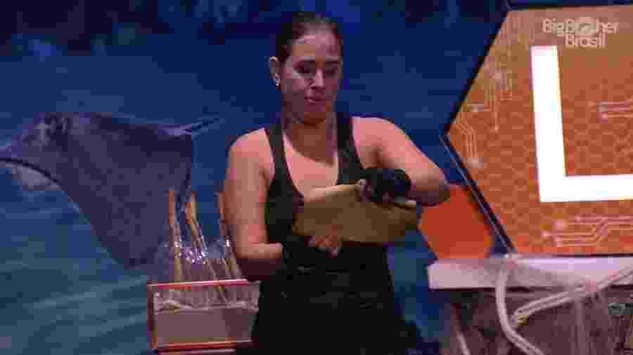 Patricia desiste da prova do líder e pega uma consequência  - Reprodução/GloboPlay