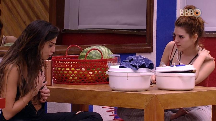 Ana Clara e Paula discutem na cozinha - Reprodução/GlobosatPlay