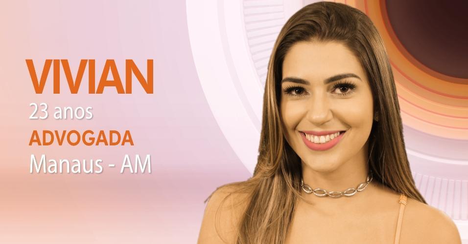 """Vivian Amorim, 23 anos, foi a primeira participante do """"BBB17"""" a ser anunciada pela Globo"""