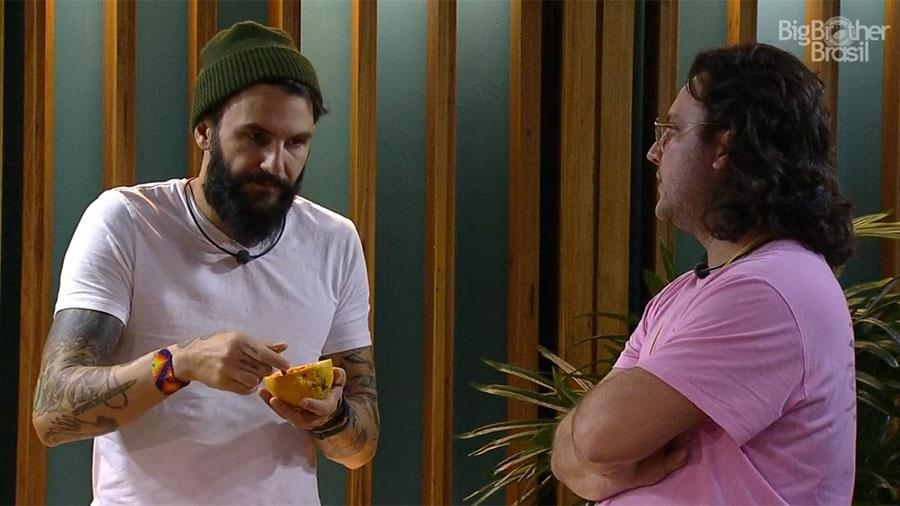 """Wagner e Diego conversam sobre o paredão do """"BBB18"""" - Reprodução/GloboPlay"""