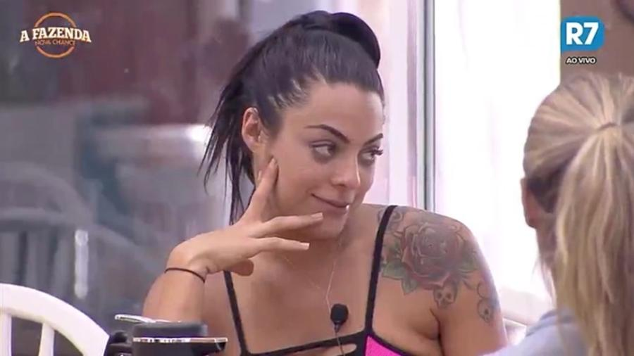 """Monique Amin fala sobre Ronaldinho Gaúcho em """"A Fazenda 9"""" - Reprodução/R7"""