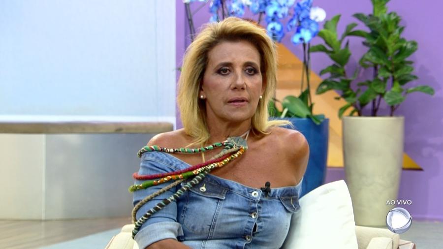 """Rita Cadillac no programa """"Hoje em Dia"""" - Reprodução/Record"""