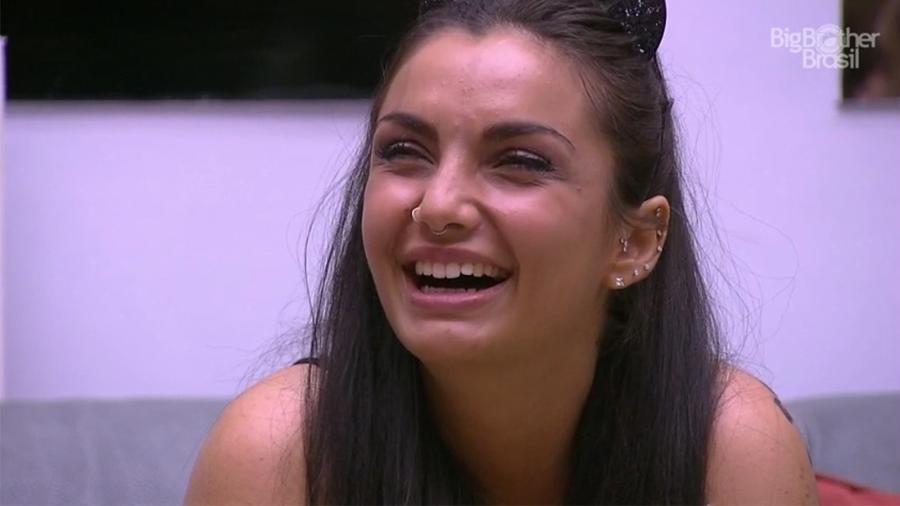 """Elettra Lamborghini fala ao vivo com o """"Gran Hermano VIP"""" - Reprodução/TV Globo"""