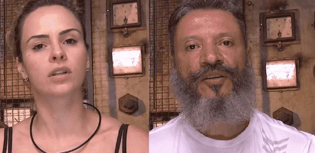 """31.jan.2016 - Ana Paula e Laércio se enfrentam no segundo paredão do """"BBB16"""" - Reprodução/TV Globo - Reprodução/TV Globo"""