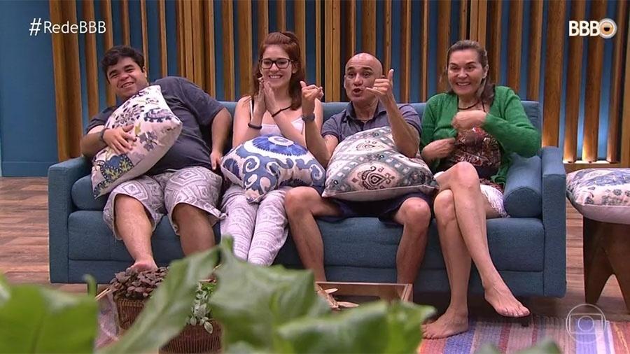"""Família Lima conversa com Tiago Leifert no """"BBB18"""" - Reprodução/TV Globo"""