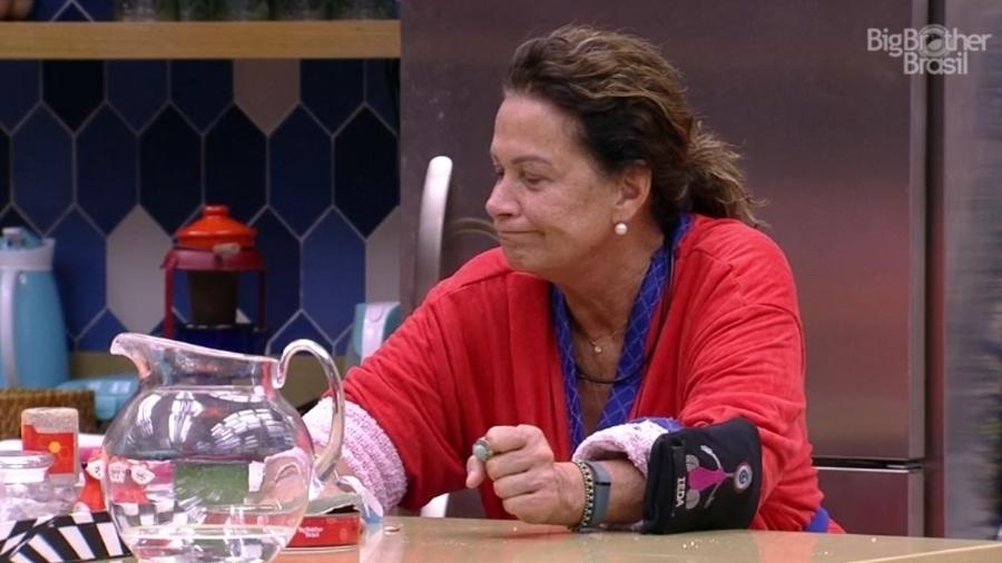 Ieda se queixa de Marinalva ter sido eliminada da prova do líder - Reprodução/TVGlobo