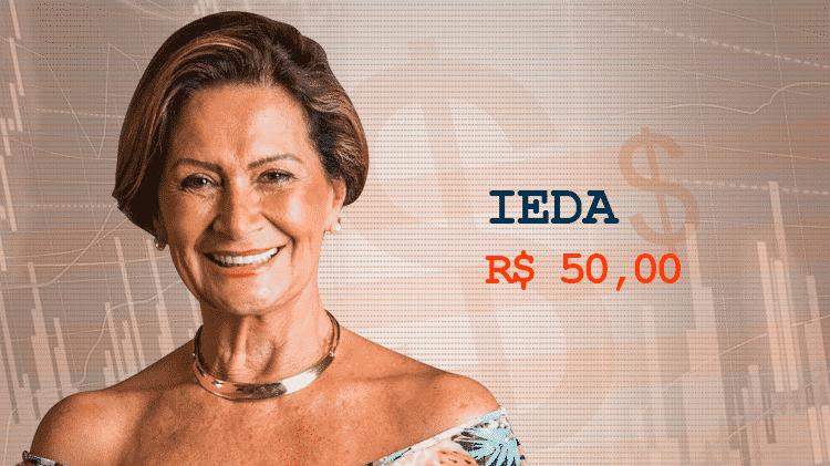 Cotação Semana 1 BBB17 Ieda - Divulgação/TV Globo e Arte/UOL - Divulgação/TV Globo e Arte/UOL