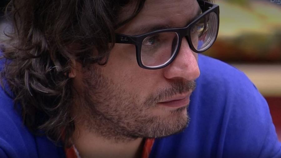 """O participante do """"BBB17"""", Ilmar foi acusado por Marcos durante uma briga de atrasar pensão alimentícia do filho - Reprodução/TV Globo"""