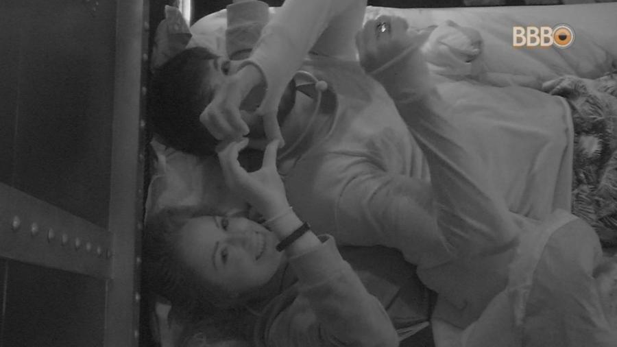 Lucas e Jéssica no Quarto Submarino  - Reprodução/Tv Globo