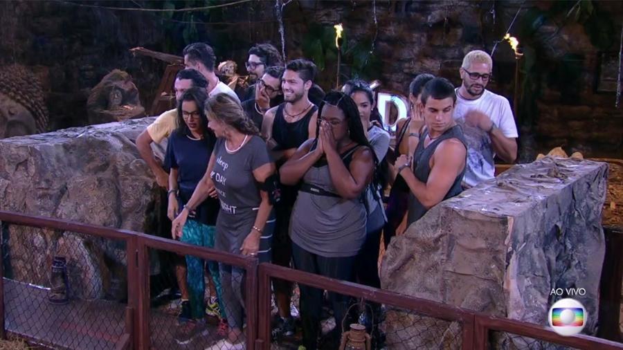 """Participantes do """"BBB17"""" participam da segunda prova do líder - Reprodução/TV Globo"""