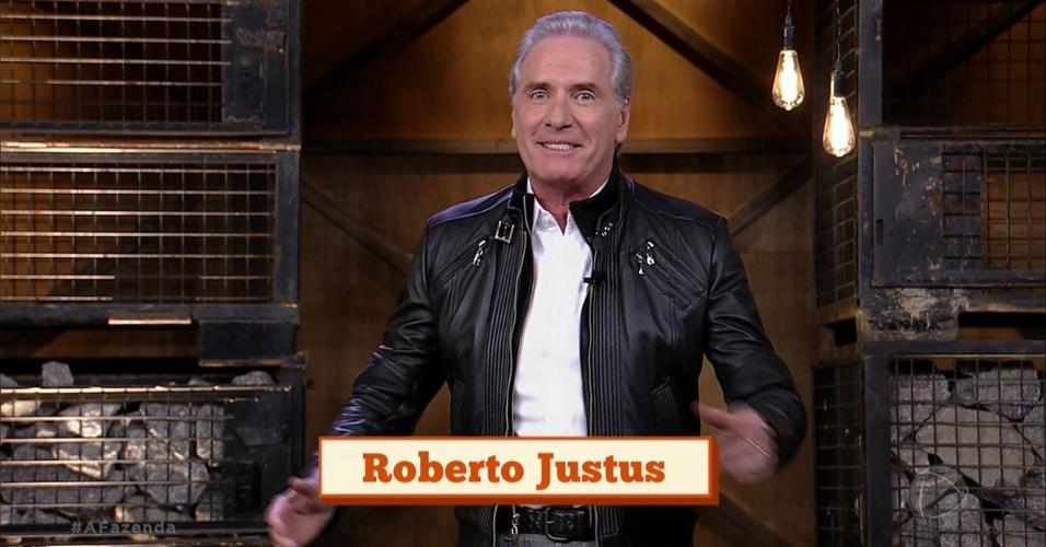 Roberto Justus explica como será a primeira roça de