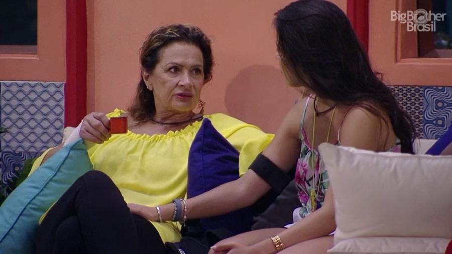 Ieda acha que Vivian e Mayara são mimadas - Reprodução/TV Globo